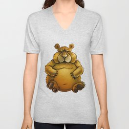 Beary sorry. Unisex V-Neck