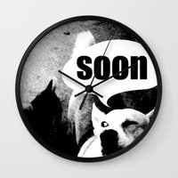 meme Wall Clocks featuring Dog meme: soon by Capadochio