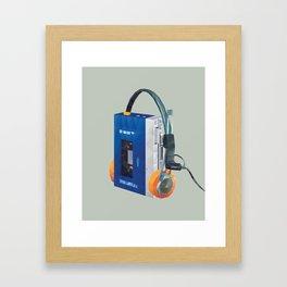 Sony Walkman TPS-L2 with MDR-5A Headphone Polygon Art Framed Art Print