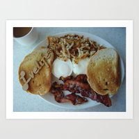 breakfast Art Prints featuring Breakfast by Gurevich Fine Art