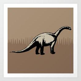 ChocoPaleo: Brontosaurus Art Print