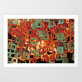 Curtain of Quadro Thinks Art Print