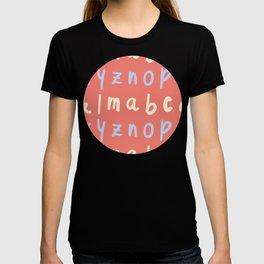 Small Alphabet Pattern T-shirt