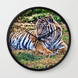 Painted Tiger 12218 Wall Clock