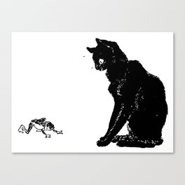 """Théophile Steinlen """"Cats: Pictures without Words (Cat and frog)"""" Canvas Print"""