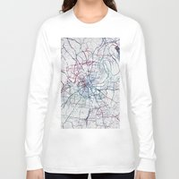 nashville Long Sleeve T-shirts featuring Nashville by MapMapMaps.Watercolors