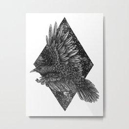 Cosmic Raven Metal Print