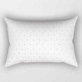 Simply Cubes in Rose Gold Sunset Rectangular Pillow
