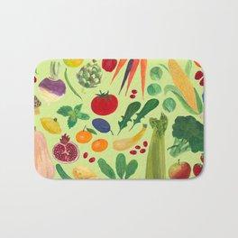 Fruits and Veggies Bath Mat
