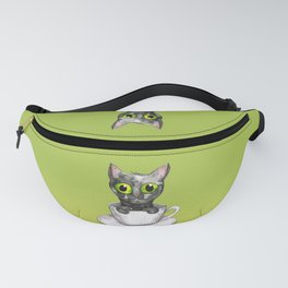 Coffee cat Fanny Pack