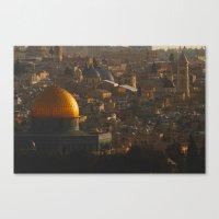 palestine Canvas Prints featuring Jerusalem, Palestine by ear2ear