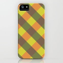 bright fall plaid iPhone Case