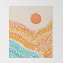Adventure On The Horizon / Abstract Landscape Throw Blanket