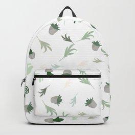Cactus-vibes, green, white, pattern, cacti-leaves, cactus, tropical, desert, decor buyart,  society6 Backpack