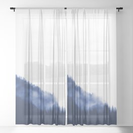Blueprint To Adventure - Foggy Forest Sheer Curtain