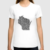 wisconsin T-shirts featuring Typographic Wisconsin by CAPow!