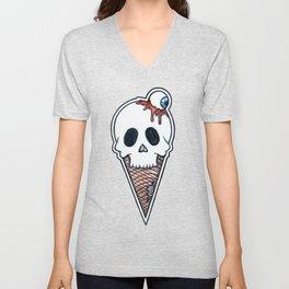 """SkullScream Cone"" Unisex V-Neck"