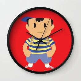 Ness - Earthbound - Super Smash Brothers - Minimalist Wall Clock