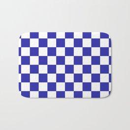 Checkered (Navy & White Pattern) Bath Mat