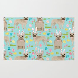 French Bulldog easter bunny spring dog breed pattern frenchies must have Rug