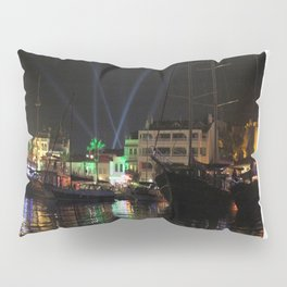 Marmaris Marina Nightscape Pillow Sham