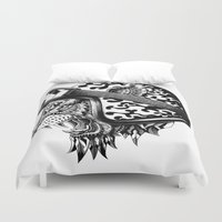 bioworkz Duvet Covers featuring Tiger Helm by BIOWORKZ