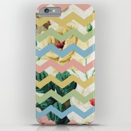 VINTAGE CHEVRON PATTERN iPhone Case