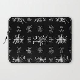 Black and White Tribal Print Laptop Sleeve