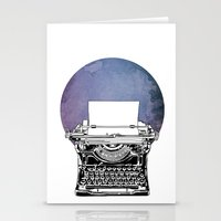 typewriter Stationery Cards featuring Typewriter by Rebecca Joy - Joy Art and Design