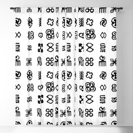 Adinkra Symbols Of West Africa Blackout Curtain