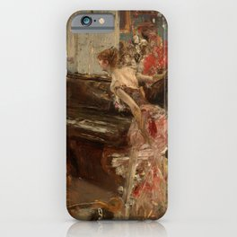 Recital by Giovanni Boldini iPhone Case