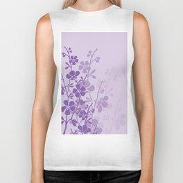 Delicate Purple Flower Biker Tank