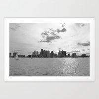 boston Art Prints featuring Boston by NaturallyJess