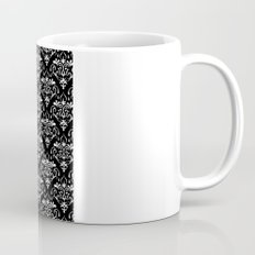 damask pattern back and white Mug
