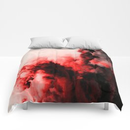 In Pain - Red And Black Abstract Comforters