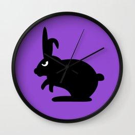 Angry Animals: Bunny Wall Clock