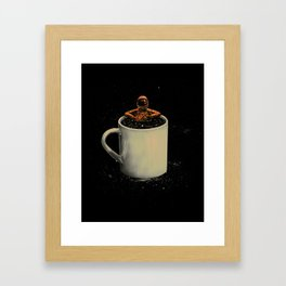 Space Coffee Framed Art Print