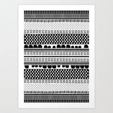 Black And White Soil Art Print