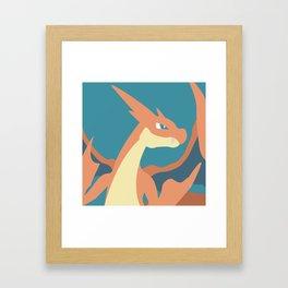 Mega Charizard Y Framed Art Print