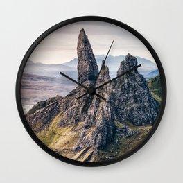Old Man of Storr, Isle of Skye, Scotland Wall Clock