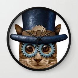 Steam Punk Cat Or Steampunk kitten Vintage style Wall Clock