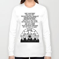 buffy the vampire slayer Long Sleeve T-shirts featuring Buffy the Vampire Slayer -- Hush Poster (White) by BovaArt