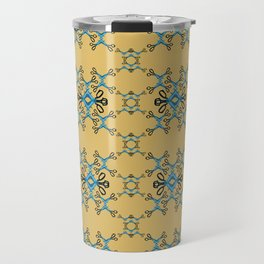 Shears in blue game Travel Mug
