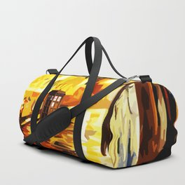 Tardis Art Street Night Duffle Bag