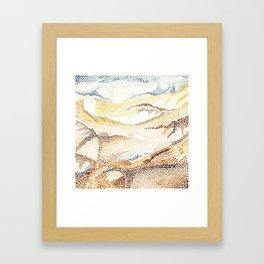 Dunes and desert Framed Art Print