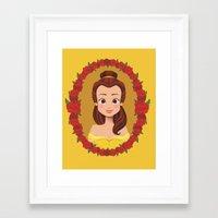 belle Framed Art Prints featuring Belle by Joey Ellson