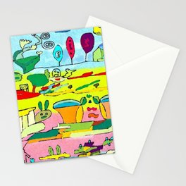 pic nic under the tree Stationery Cards