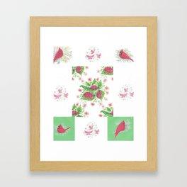 Cardinal Ladybug Pattern Framed Art Print