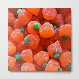 Pumpkin Candy Metal Print