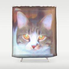 Golden Eyes Shower Curtain